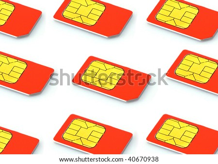 Sim cards isolated on white background lte - stock photo