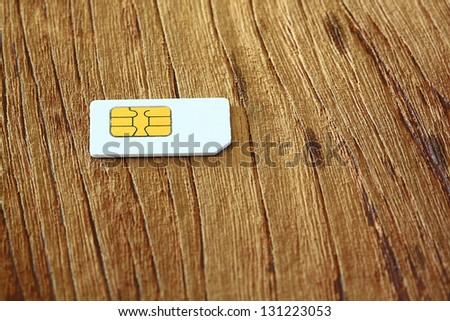 Sim Mobile phone - stock photo