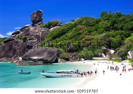 Similan islands, Thailand, Phuket. - stock photo