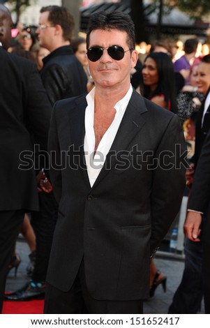 "Simon Cowell arriving for the ""One Direction: This is Us"" World premiere at the Empire, Leicester Square, London. 20/08/2013 - stock photo"