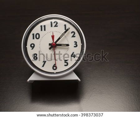 Simple alarm clock/Alarm clock/Alarm Clock used for waking up - stock photo