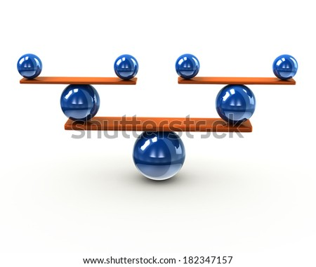 Simple balance and harmony concept - stock photo