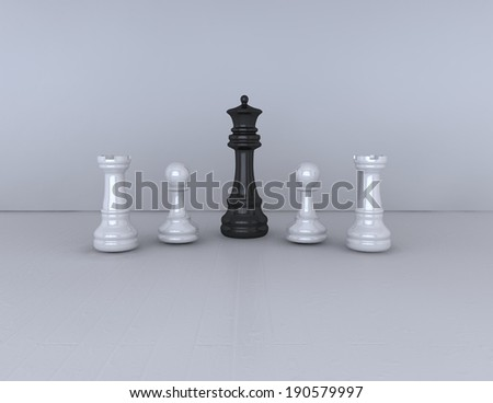 simple chess game background, black and white - stock photo