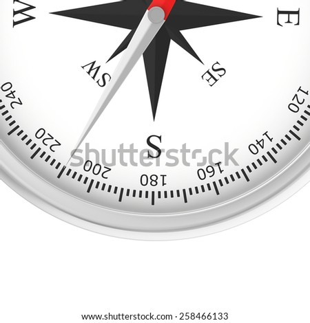 Simple compass rose isolated on white background - stock photo