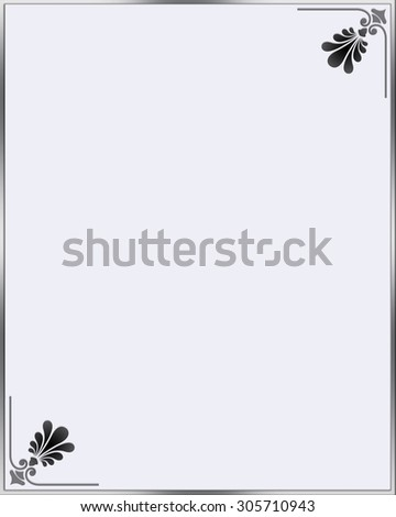 Simple decorative frame in grey . - stock photo