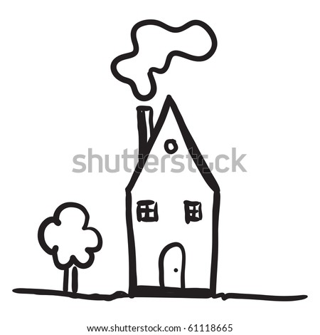 Simple house drawing Stock Photos, Images, & Pictures   Shutterstock