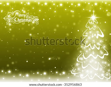 Simple green  Christmas tree isolated on background - stock photo