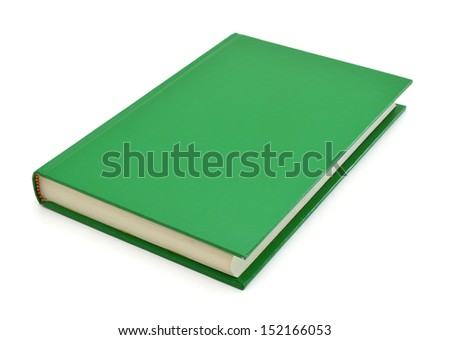 simple green hardcover book isolated on white background  - stock photo