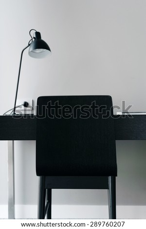 simple home office desk - stock photo