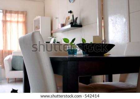 Simple house interior - stock photo