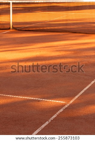 Simple image of a tennis clay court base in clay - stock photo