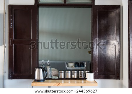 Simple Kitchen bar in home - stock photo
