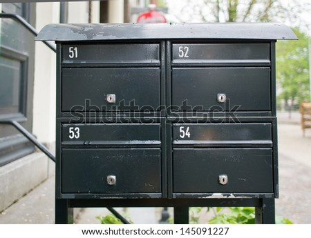 simple mailbox in Amsterdam, Netherlands - stock photo