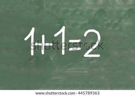 simple mathematical equation - stock photo