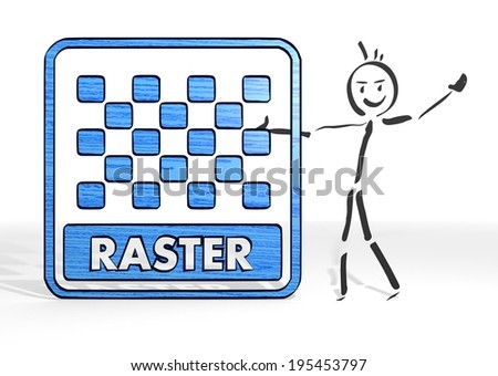 simple stick man presents a raster image symbol white background - stock photo