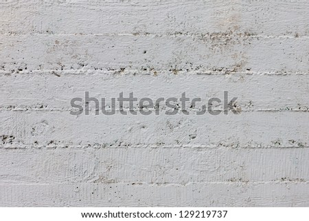 Simple striped gray concrete wall background - stock photo