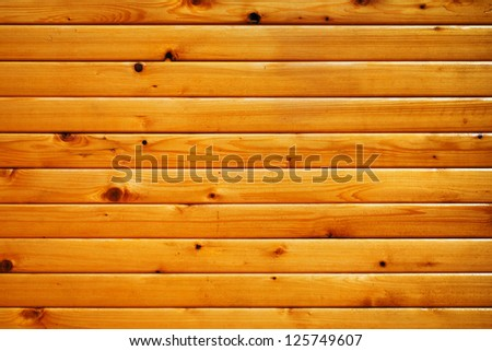 Simple wood texture, horizontal lumbers - stock photo