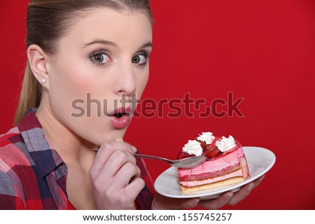 Sin of gluttony - stock photo