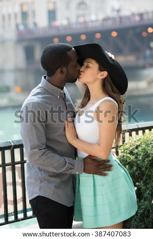 Sincere love Outdoors - stock photo