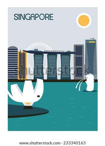 Singapore city. - stock photo