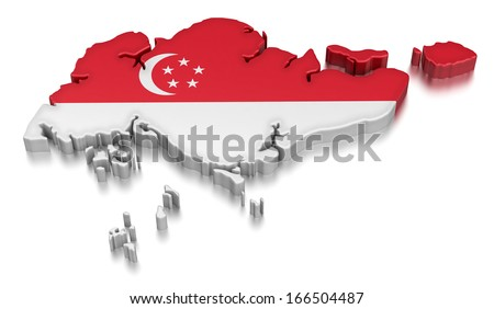 Singapore (clipping path included) - stock photo