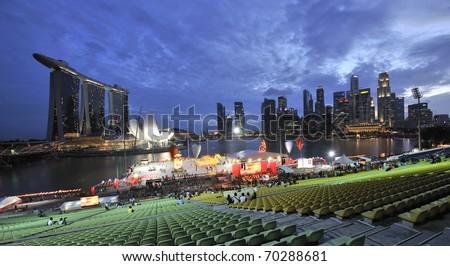 SINGAPORE - FEB 1 : River Hongbao 2011 opening night 25th, celebrates Lunar New Year at Marina Bay Feb 1, 2011 in Singapore. - stock photo