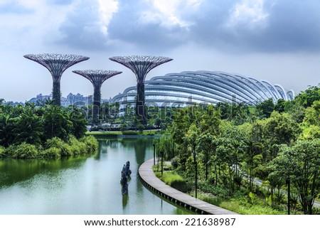 Singapore in Asia - stock photo