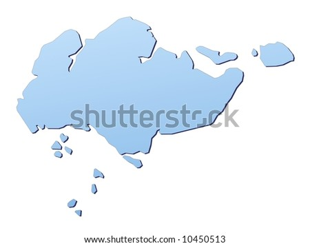 Singapore Map Vector Images - Singapore map vector