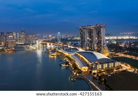 Singapore 12-10-2014, Marina Bay Sands  - stock photo
