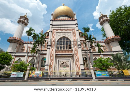 SINGAPORE - MAY 5: Masjid Sultan Mosque is one of the oldest Mosques in Kampong Glam - a Malay and Arab Settlement. May 5, 2011 in Singapore. - stock photo