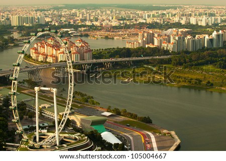 Singapore, river Hongbao - stock photo