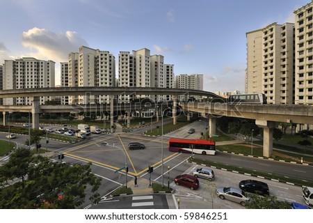 Singapore - Seng Kang New Town - stock photo