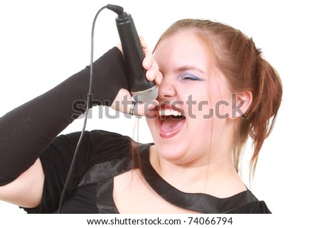 Singer - stock photo