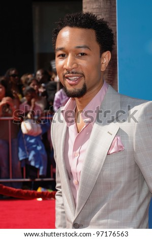 Singer JOHN LEGEND at the 2005 BET (Black Entertainment Television) Awards at the Kodak Theatre, Hollywood. June 28, 2005 Los Angeles, CA  2005 Paul Smith / Featureflash - stock photo