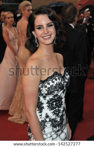 """Singer Lana Del Rey at the premiere of """"The Great Gatsby"""" the opening movie of the 66th Festival de Cannes. May 15, 2013  Cannes, France - stock photo"""
