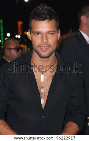 Singer RICKY MARTIN at the 2005 World Music Awards at the Kodak Theatre, Hollywood, CA. August 31, 2005  Los Angeles, CA.  2005 Paul Smith / Featureflash - stock photo