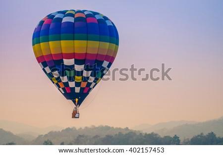 Singha Park International Balloon Fiesta 2016  - stock photo
