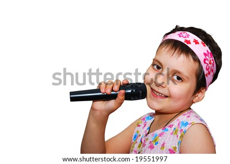 singing child - stock photo