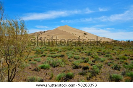 Singing Dune near the city of Almaty, Altyn Emel National Park, Republic of Kazakhstan - stock photo