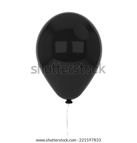 Single baloon. 3d illustration isolated on white background - stock photo