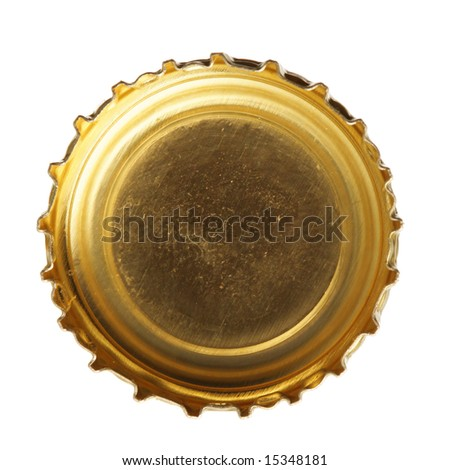 Single beer cork isolated over white background - stock photo