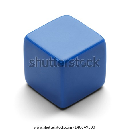 Single Blank Dice with Copy Space Isolated on White Background. - stock photo