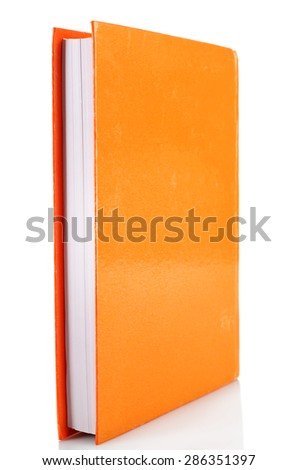 Single book isolated on white - stock photo