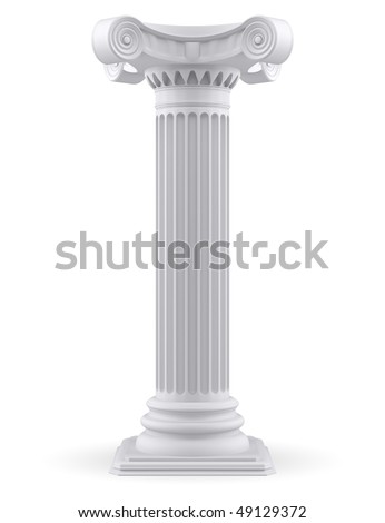 Single column (3d render) - stock photo