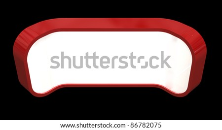 single counter with light box - stock photo
