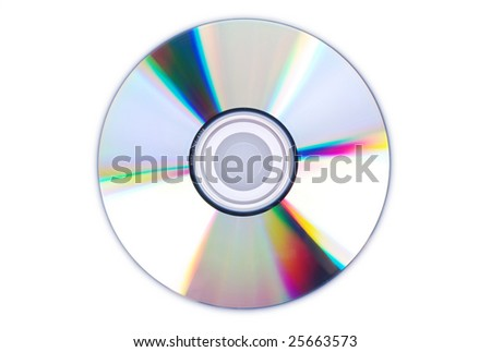 Single disc cd dvd isolated on white. - stock photo