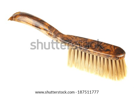 Single dust brush isolated on white background - stock photo