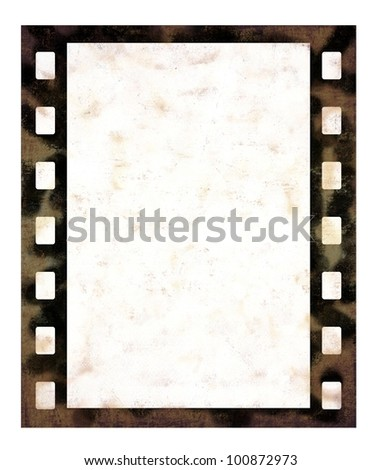 Single film frame - stock photo