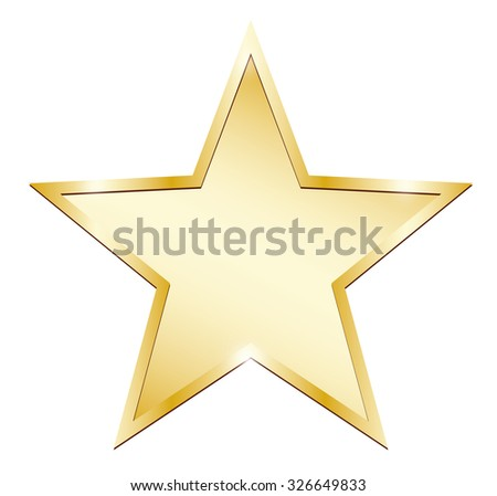 Single gold star - stock photo