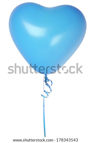 single heart balloon  - stock photo